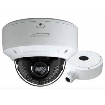Speco O8D7M 8MP 4K IR H.265 Outdoor Dome IP Security Camera with 2.8~12mm Motorized Lens and Advanced Analytics