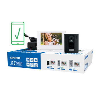 Aiphone JOS-1AW Mobile-Ready Box Set with Surface-Mount Door Station, App-enabled Entry Security System