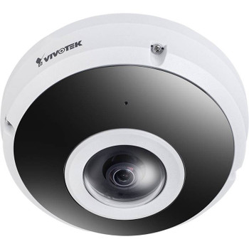 Vivotek FE9380-HV 5MP IR H.265 Outdoor Fisheye IP Security Camera with Built-in Microphone and WDR Pro