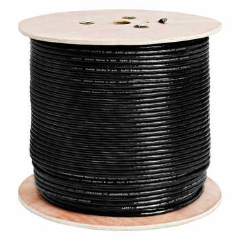 LTS LTAC2046BK 1000 feet CAT6 Network Cable, CCA UL