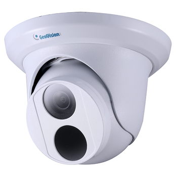 Geovision GV-EBD8800 8MP H.265 IR Eyeball Dome IP Security Camera with 4.3x Zoom, Super Low Lux WDR Pro