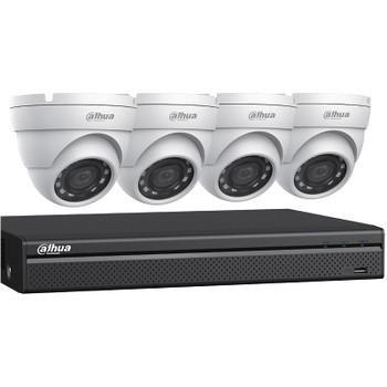 Dahua C542E42A 1080p 4-Camera HD-CVI Security Camera System with 2TB Storage, Outdoor Night Vision Turret Cameras