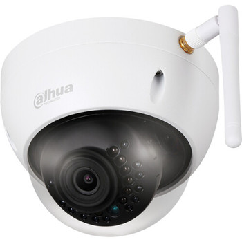 Dahua 4MP Outdoor Wireless Mini Dome IP Security Camera, 97 degree Field of View, Night Vision, H.265+ Compression, DH-IPC-HDBW1435EN-W-S2