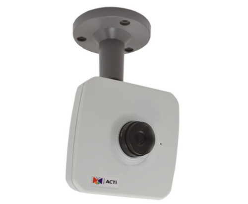 ACTi E12A 3MP Network Cube Security Camera - 2.8mm Fixed Lens, 1080P Full HD, WDR, H264 and MJPEG compression, Two-way Audio