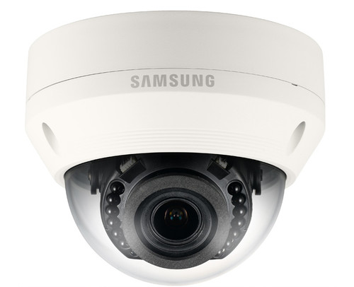 Samsung SNV-L6083R 2.1MP Outdoor Dome IP Security Camera - 2.8~12mm Varifocal Lens, IR 65ft
