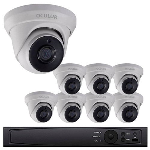 Turret CCTV Analog Security Camera System 8 Outdoor Full HD 1080p 2TB Storage Night Vision LTD8308 D2M