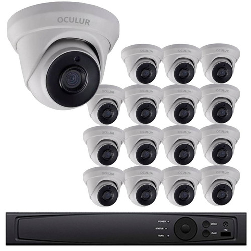 Turret CCTV Analog Security Camera System, 16 Camera, Outdoor, Full HD 1080p, 3TB Storage, Night Vision, LTD8316-D2M