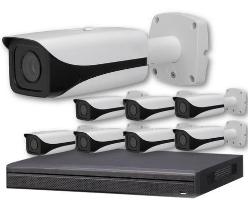 8-Camera 4K Indoor/Outdoor Motorized Bullet IP Security Camera System