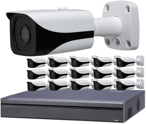 16-Camera 4K Indoor/Outdoor Bullet IP Security Camera System