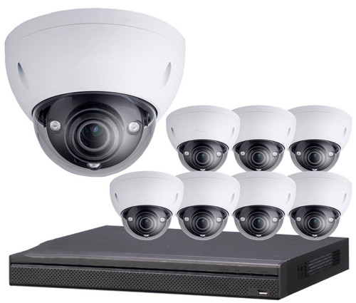 8-Camera 4K Indoor/Outdoor Dome IP Security Camera System 8-HDB-SYS
