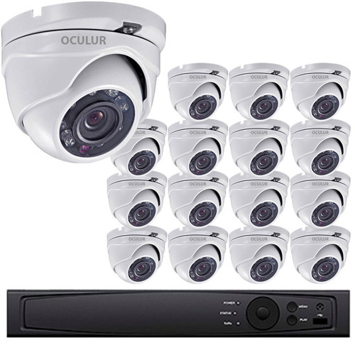 Turret CCTV Analog Security Camera System, 16 Camera, Outdoor, Full HD 1080p, 3TB Storage, Night Vision, LTD08162DK-3TB