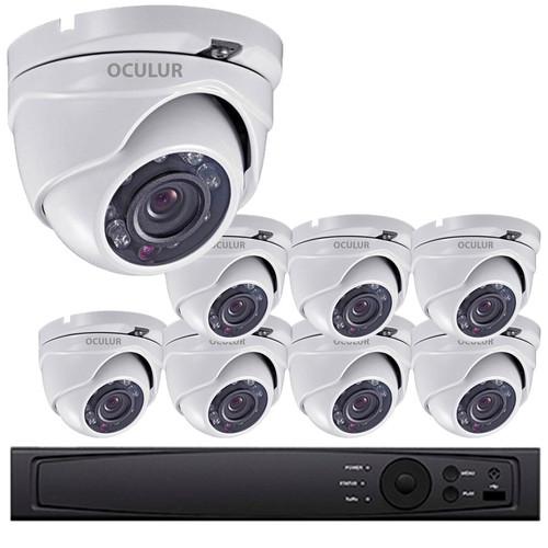 Turret CCTV Analog Security Camera System, 8 Camera, Outdoor, Full HD 1080p, 2TB Storage, Night Vision, LTD0882DK-2TB Home Systems - Surveillance