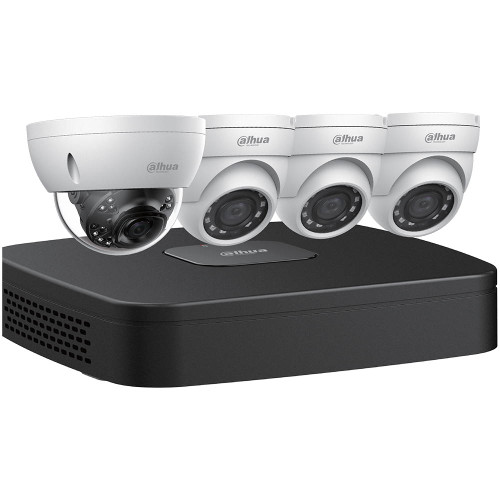 Dahua N448D42 IP Security Camera System, 3+1 Camera, Outdoor, 4MP+8MP, 2TB Storage, Night Vision