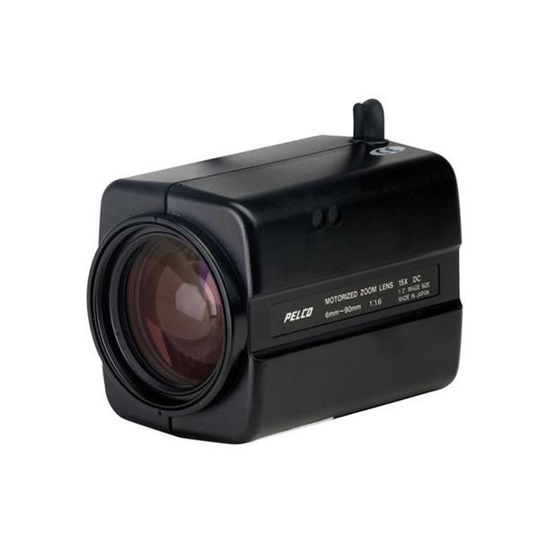 "Pelco 13ZD6X15P 15X Motorized Zoom Lens, 1/3"", Auto Iris, CS Mount with Presets"