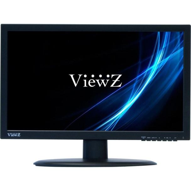 """ViewZ VZ-185LED-E 18.5"""" Widescreen CCTV LED Monitor - Black Flat Panel, HDMI, DVI, VGA, PC Stereo, OSD, 720P"""