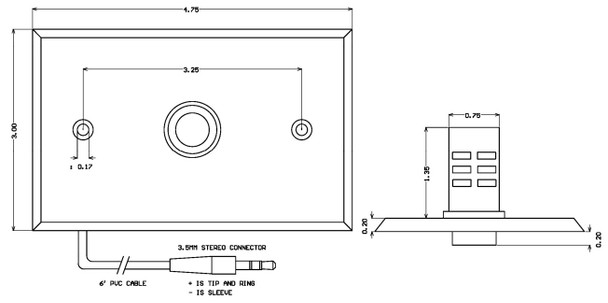 ETS ML1-U Flush Mount Uni-directional Microphone