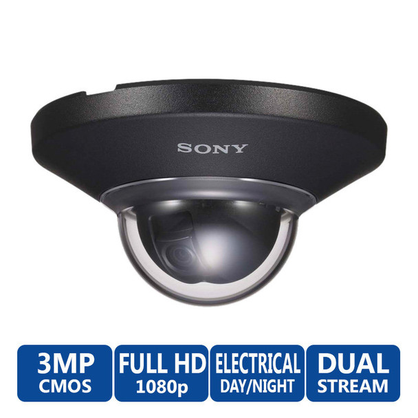 Sony SNC-DH210TB H.264 HD 1080P Vandal Proof Dome IP Security Camera
