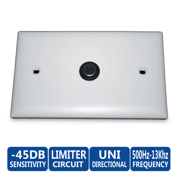 ETS SM1-U Flush Mount Uni-directional Surveillance Microphone