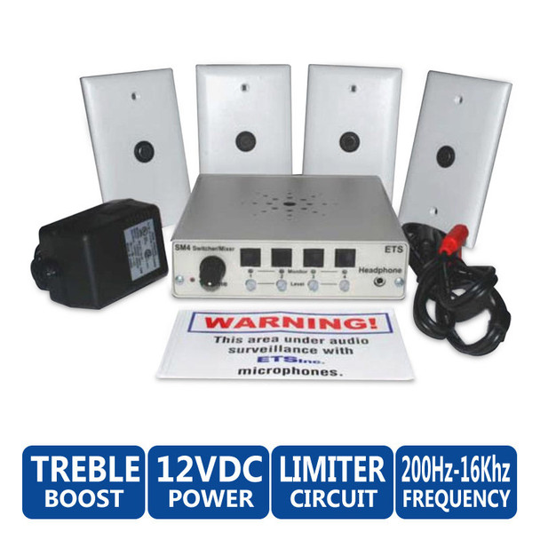ETS SM7 4 Zone Audio Surveillance Kit