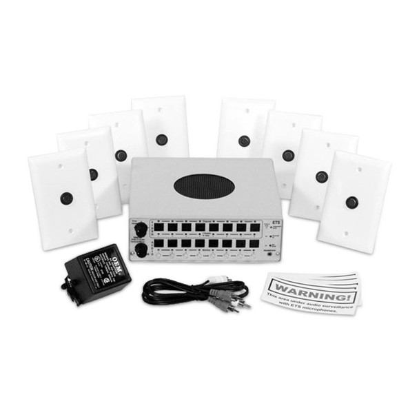 ETS SM9va 8 Zone Audio/Video Surveillance Kit