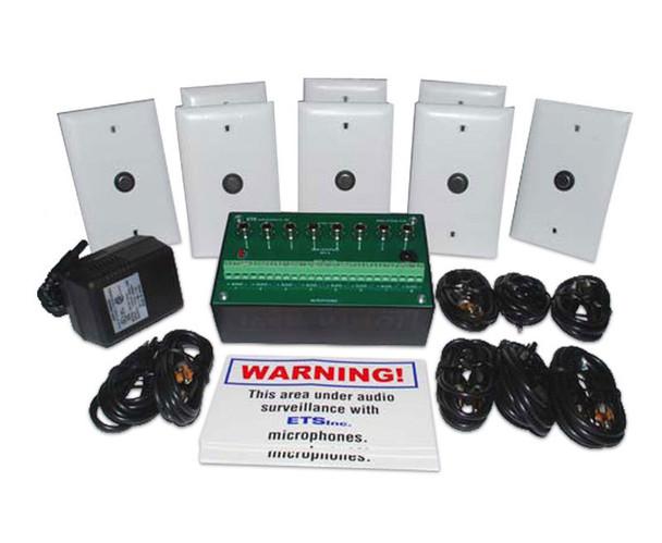 ETS SMI-9 8 Zone Microphone Audio Surveillance Kit