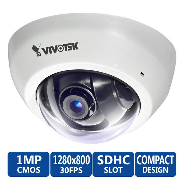 Vivotek FD8136 720P HD Ultra MiniDome Security Camera (White)
