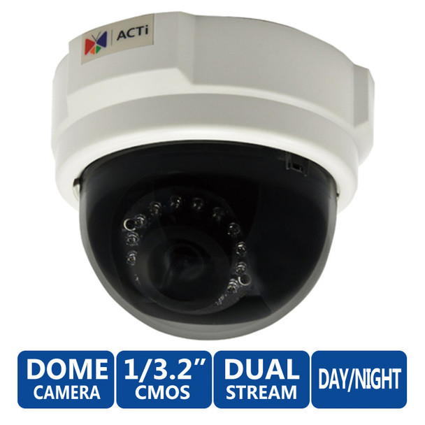 ACTi E54 5 MegaPixel Full HD Dome Security Camera (IR Day/Night)