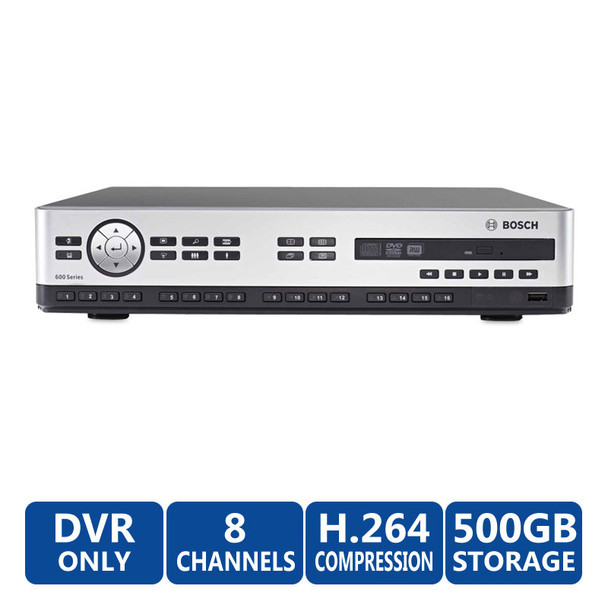 Bosch DVR-650-08A050 8ch DVR Digital Video Recorder (500GB)