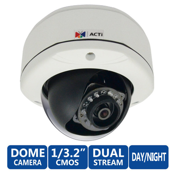 ACTi E72 3 Megapixel IR Day/Night WDR Network Security Camera