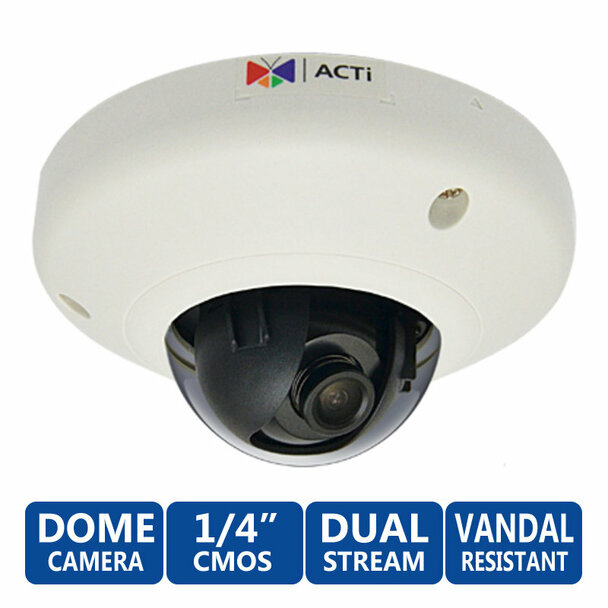 ACTi E91 1 Megapixel Mini Dome WDR Network Security Camera