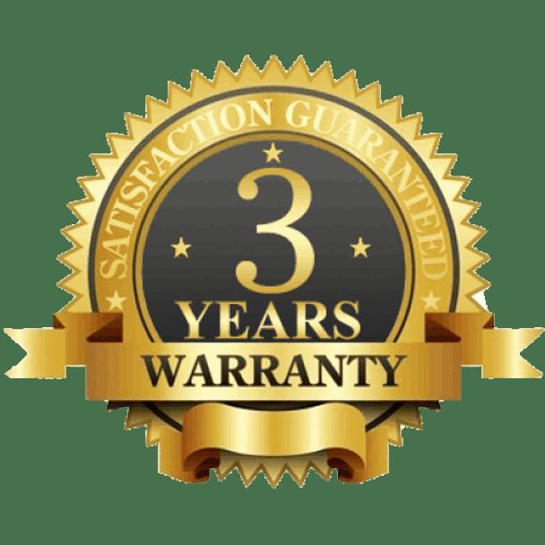 3-Year Limited Manufacturer Warranty