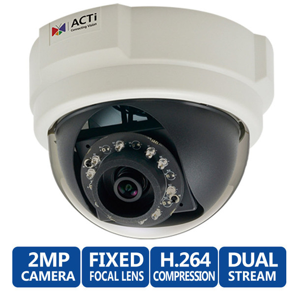 ACTi E58 1080p HD Indoor IR Dome Network Camera, WDR, 3.6mm lens
