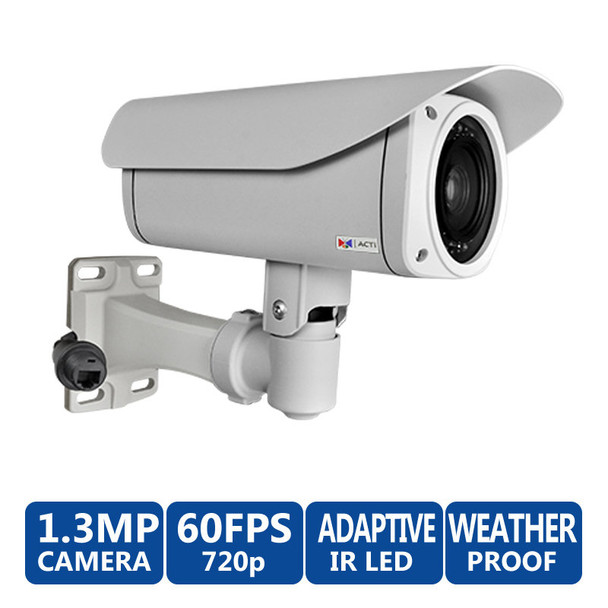 ACTi B41 720p HD Outdoor IR Bullet IP Security Camera, 10x zoom lens