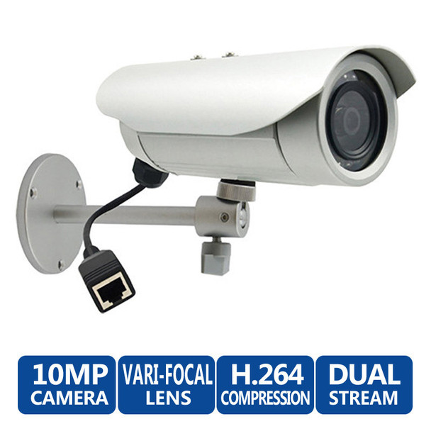 ACTi E48 10MP Outdoor IR Bullet IP Security Camera, WDR, 3-13mm lens