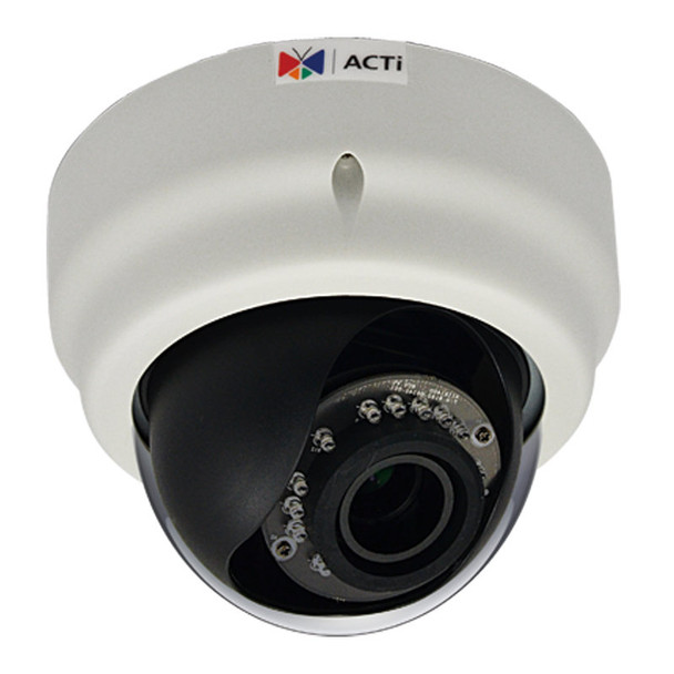 ACTi E68 1.3MP Indoor IR Dome IP Camera, WDR, 2.8-12mm lens