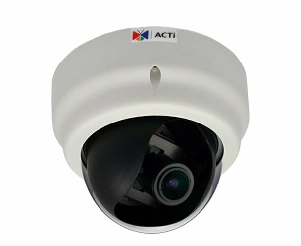 ACTi D61A 1.3MP IP Indoor Dome Camera - Audio Support, 2.8-12mm Lens, SLLS