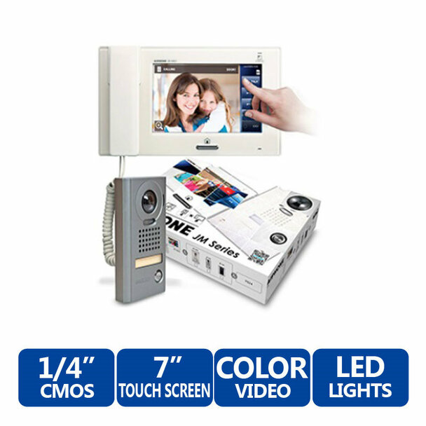"Aiphone JMS-4AEDV 7"" Touch-Screen Handset/Hands-Free Color Video Set"