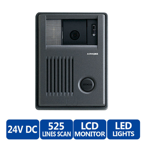 Aiphone KB-DAR-M Single-Gang Surface Mountable Color Video Door Station - Motion Detector Interface