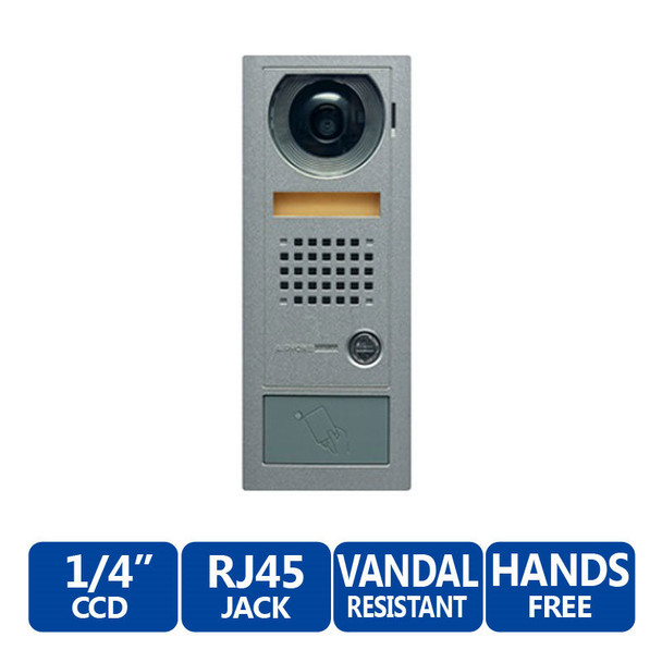 Aiphone AX-DV Vandal-Resistant Stainless Steel Flush-Mount Color Video Door Station - AX Series Integratable Audio/Video Security System
