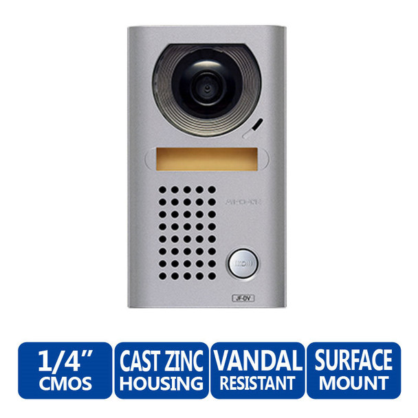 Aiphone JF-DV Vandal-Resistant Surface Mount Color Video Door Station