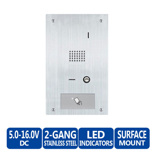 Aiphone HID-SS HID Proximity Reader Module - 2-Gang Entrance Panel