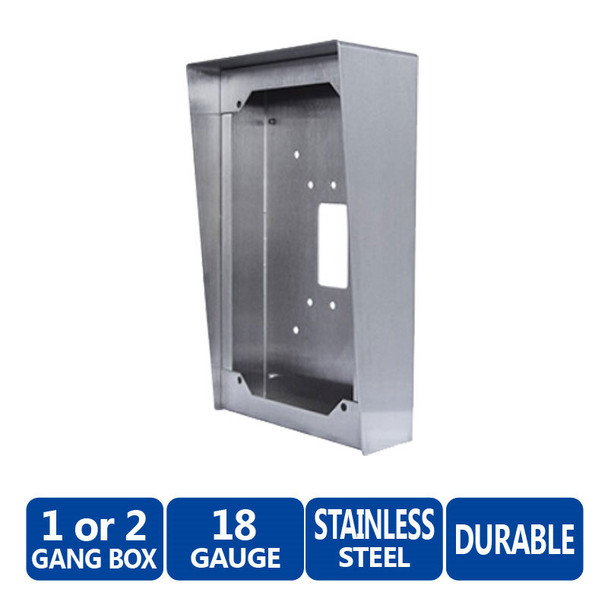 Aiphone SBX-DVF Stainless Steel Surface Mount Box