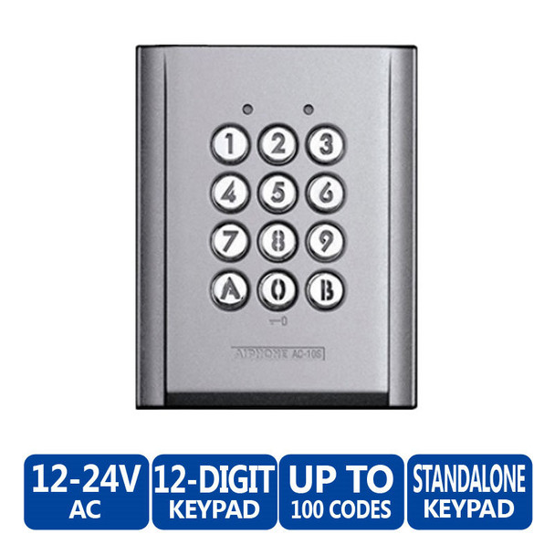 Aiphone AC-10S Standalone Surface Mount Access Keypad