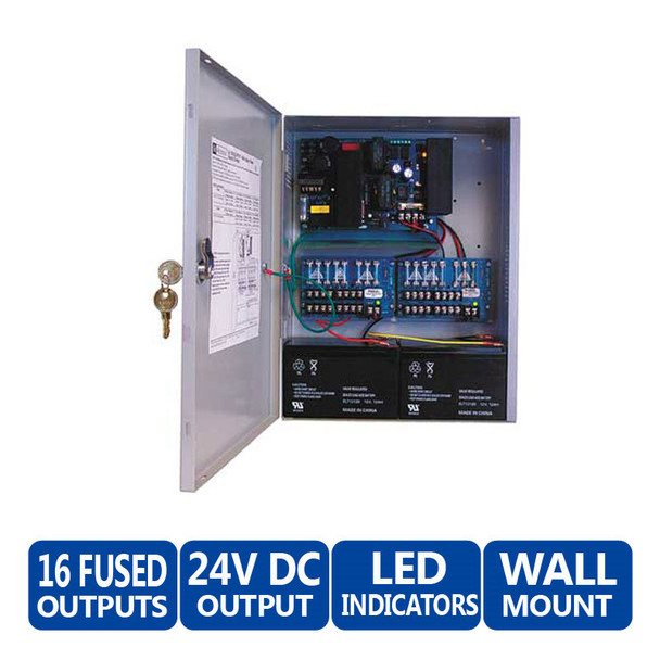 Altronix AL1024ULXPD16 16 Fused Outputs Power Supply - 24VDC @ 8 or 10A