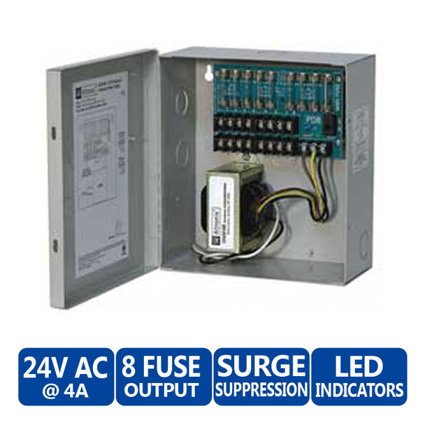 Altronix ALTV248 8 Fused Outputs CCTV Power Supply - 24VAC @ 4A