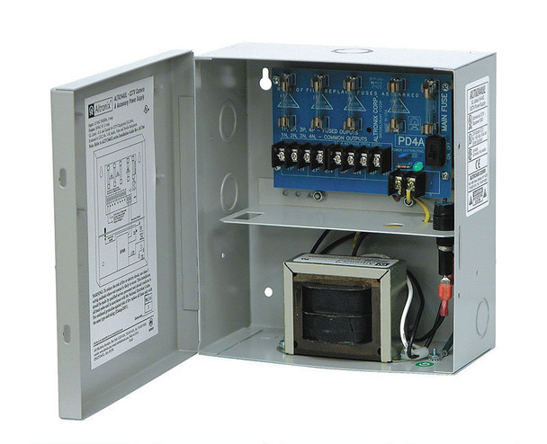 Altronix ALTV244UL 4 Fused Outputs Analog Power Supply - 24VAC @ 3.5A