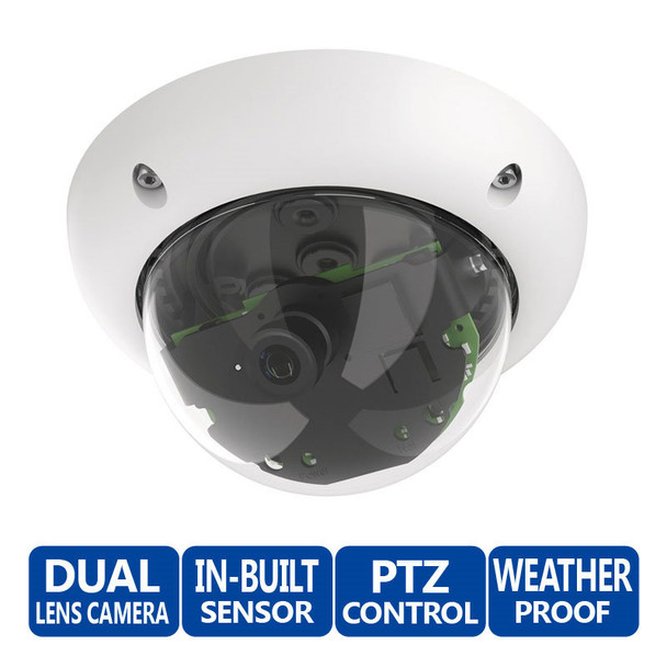 Mobotix MX-D25M-SEC 5MP Multi-sensor Outdoor Dome IP Security Camera - Body Only, Day, MxActivitySensor