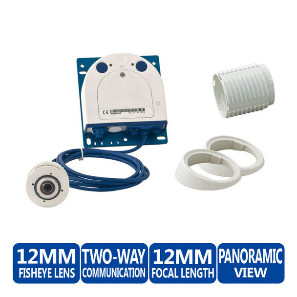 Mobotix MX-S15D-SET1 FlexMount Hemispheric IP Camera Complete Set - Single Day Sensor & 1.6mm Fisheye Lens