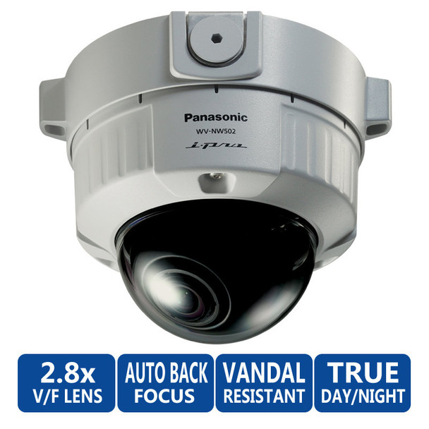 Panasonic WV-NW502S/09 Vandal-Resistant Fixed Dome HD IP Security Camera
