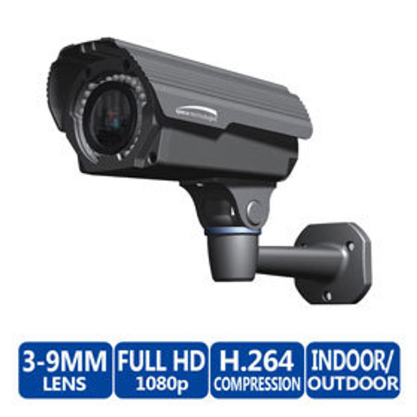 Speco VIP2B1M 1080p Indoor/Outdoor Bullet IP Security Camera - Built-In Heater
